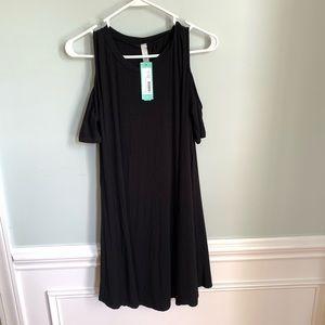 Jolie Fia Cold Shoulder Knit Dress Black XL